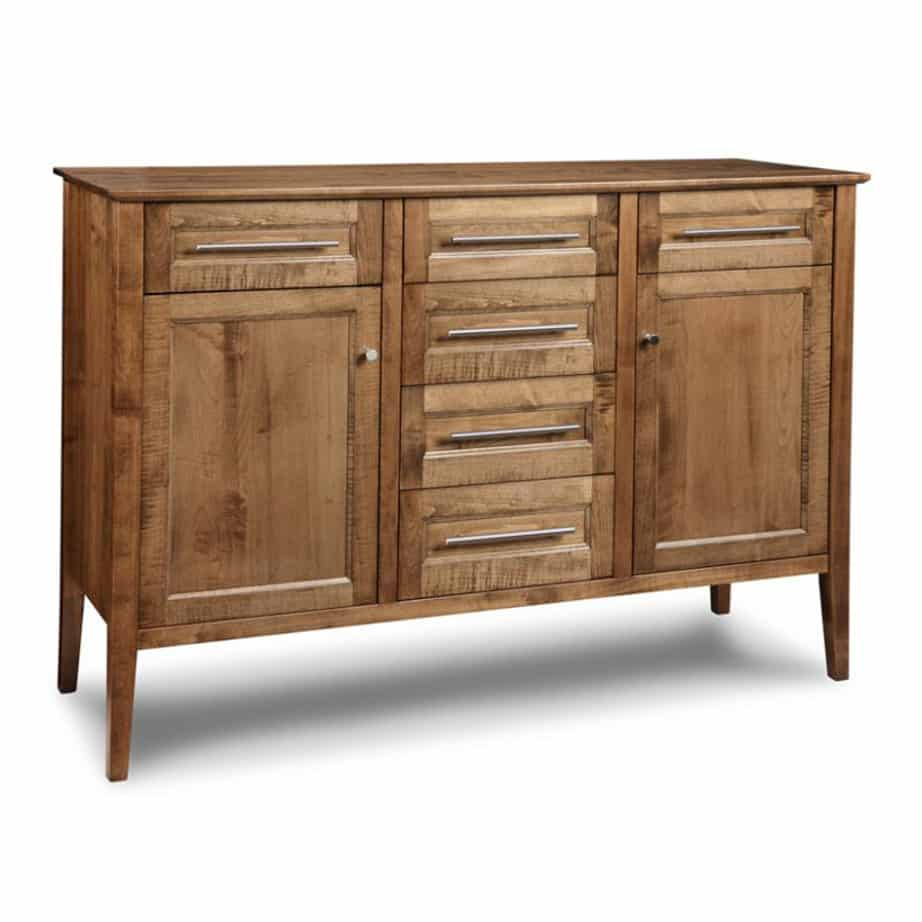 Stockholm Sideboard, Stockholm, Sideboard, Dining Room, Cabinets, Storage Cabinets, cherry, contemporary, custom cabinet, distressed, handstone, made in canada, made to order, maple, modern, oak, solid wood, kitchen ideas, kitchen furniture, amish style furniture, contemporary, handmade, rustic, distressed,