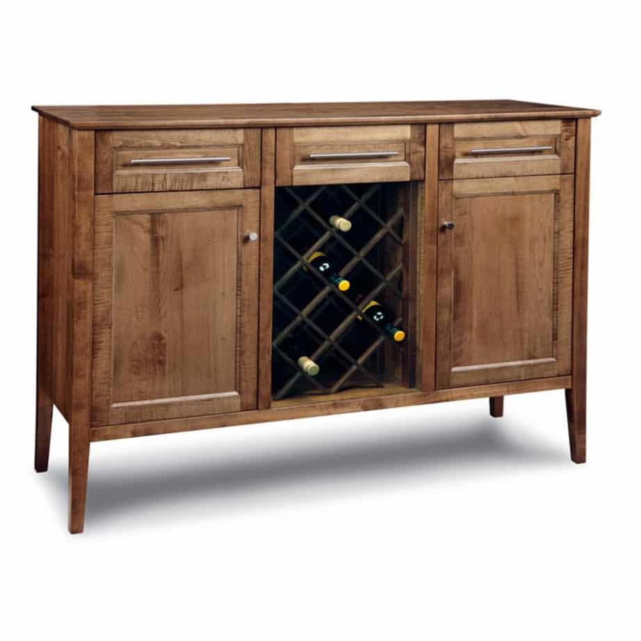 Stockholm Wine Sideboard, Dining Room, Cabinets, Wine Cabinets, cherry, contemporary, custom cabinet, distressed, handstone, made in canada, made to order, maple, modern, oak, solid wood, Custom, kitchen ideas, kitchen furniture, Wine, Sideboard