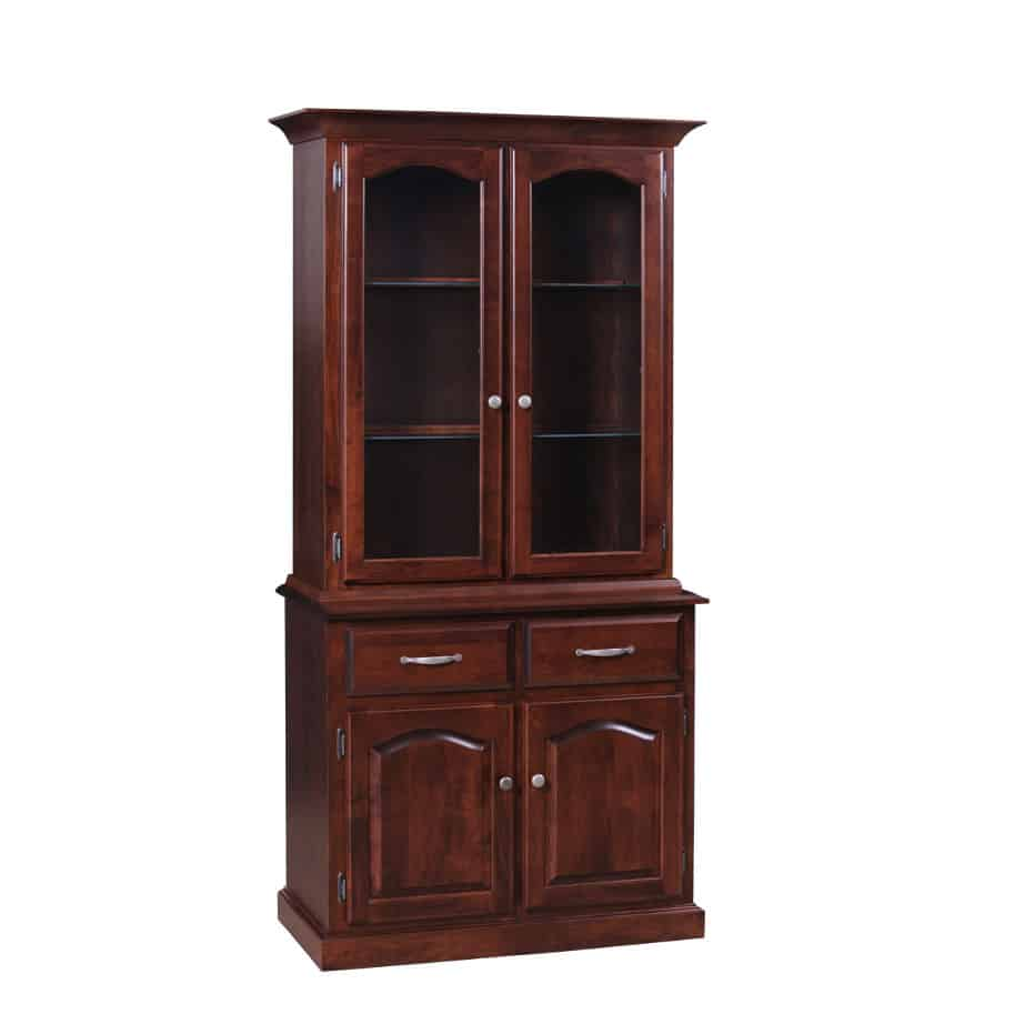 Traditional 2 Door Buffet And Hutch Prestige Solid Wood Furniture
