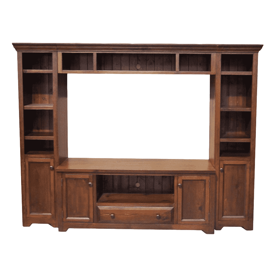 Entertainment, Wall Units, colour, contemporary, country, custom table, distressed, entertain, HDTV, made in canada, modern, painted, solid wood, storage, tv, white, rustic, unique, living room ideas, Edge and Door/Drawer Trim Options, True North, True North Wall Unit