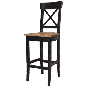 "Dining Room, Bar Stools, bar, colour, contemporary, counter, country, distressed, island, kitchen, made in canada, modern, painted, solid wood, white, rustic, simple, x back stool, 24"", 30"", wood seat, True North X Back Stool"