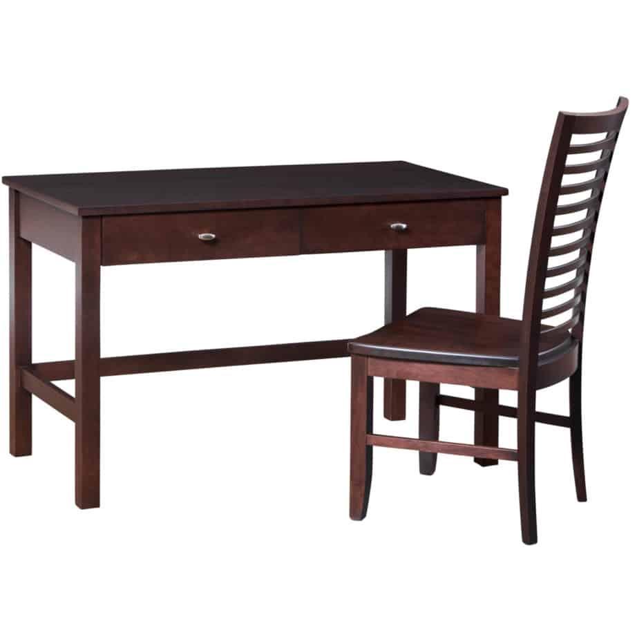 Yaletown writing desk ,writing desk, woodcen desk, solid wood writing desk, writing desk with drawers.