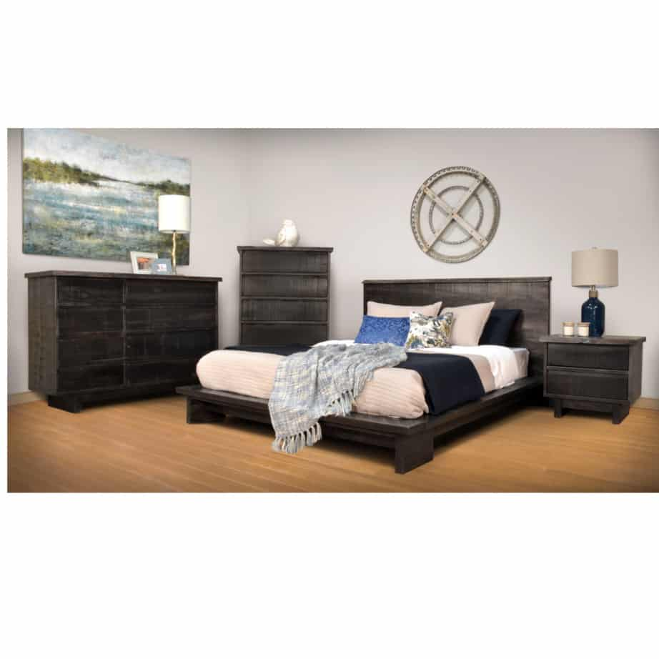 bedroom, bedroom furniture, custom, custom furniture, bed, solid wood, maple, rustic maple, rustic wood, amish design, modelli