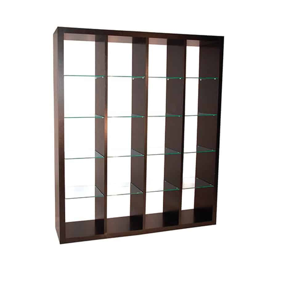 Biko Bookcase A, Biko Bookcase, Home Office, Bookcases, Accents, Accent Furniture, birch, contemporary, display, made in canada, mid-century, modern, shelf, shelving, solid wood, walnut, VerBois, living room furniture ideas, custom made, solid wood furniture