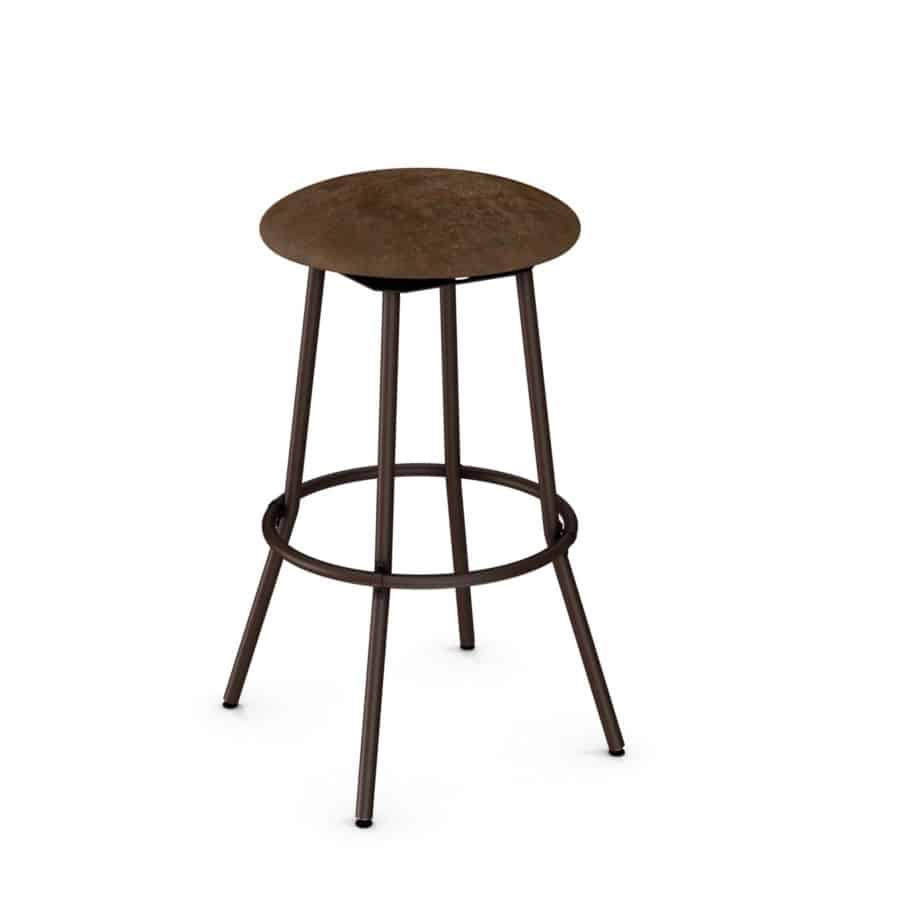 custom stool, metal, iron, steel, fabric, leather, distressed wood, solid birch, traditional, modern, urban, rustic, bar, pub, counter, island, kitchen, amiss, made in canada, bluffton stool