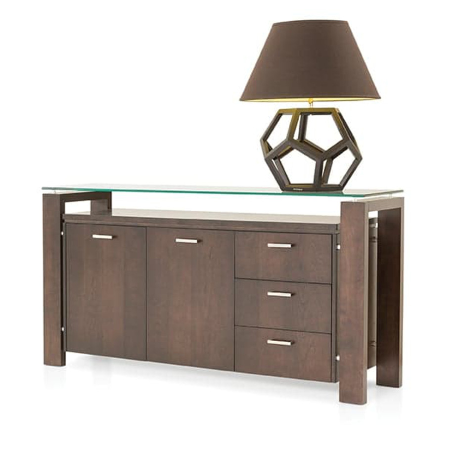 Dining Room, Cabinets, Storage Cabinets, birch, contemporary, glass, made in canada, mid century, modern, solid wood, verbois, walnut, dining room ideas, glass top, unique, modern, storage ideas, simple, unique, Bob Buffet, modern