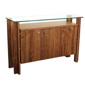 Dining Room, Cabinets, Storage Cabinets, birch, contemporary, glass, made in canada, mid century, modern, solid wood, verbois, walnut, dining room ideas, glass top, unique, modern, storage ideas, simple, unique, Cita Buffet