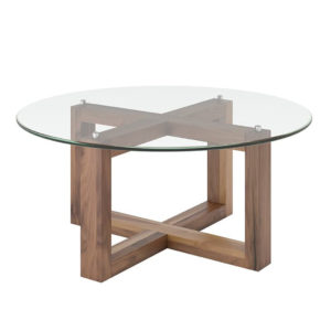 Occasional, End Table, Accents, Accent Furniture, birch, contemporary, made in canada, mid century, modern, solid wood, walnut, living room ideas, unique, modern, verbois, custom stain, simple, Living Room, coffee table, glass, glass shelf, Round, EOL Coffee Table