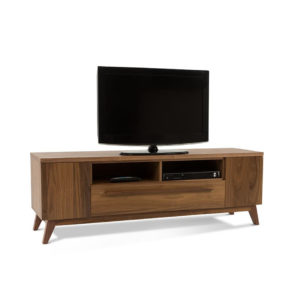 Eos TV Console, Entertainment, TV Consoles, birch, console, contemporary, HDTV, made in canada, media stand, mid-century, modern, solid wood, walnut, living room furniture ideas, VerBois, solid wood furniture, custom made, unique