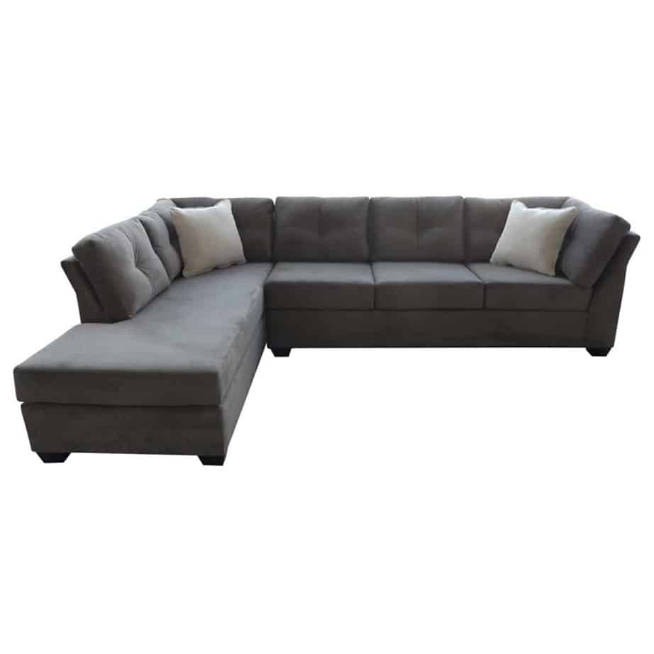 elite sofa, love seat, custom sofa, made in canada, custom sofa, fabric, modern, traditional, flip romeo sectional, chaise, bumper, custom sectional, modular sectional, high arm, tufted back, stitching