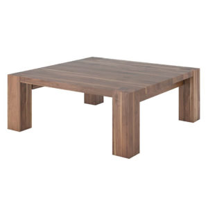 Occasional, End Table, birch, contemporary, glass, made in canada, mid century, modern, rustic walnut, solid wood, walnut, living room ideas, modern, verbois, custom stain, simple, Living Room, Accent Furniture, Accents, Heel Coffee Table