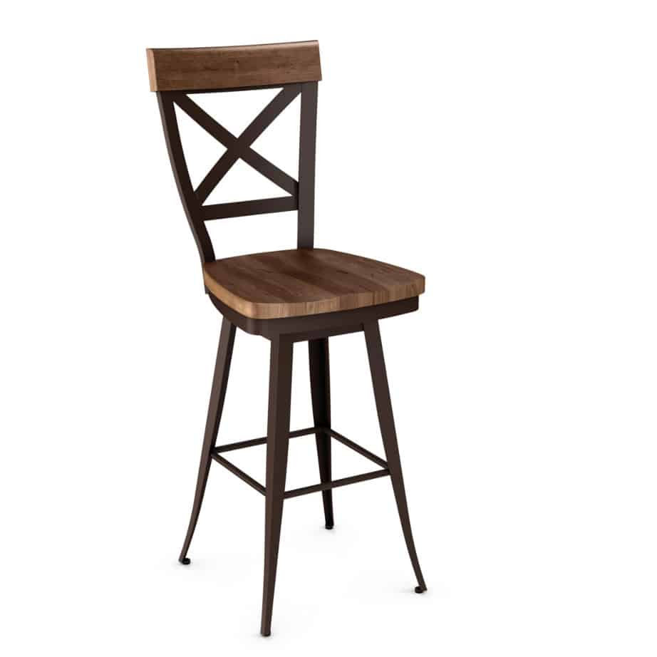 Dining Room, Bar Stools, Kyle Stool, amisco, bar, contemporary, counter, custom stool, customizable, fabric, island, made in canada, metal, rustic wood, distressed, iron, steel, birch, modern, urban, custom made, pub stool, counter stool, bar stool, counter height, bar height,