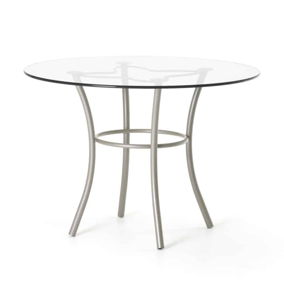 Dining Room, amisco, Lotus Table, contemporary, customizable, glass, made in canada, metal, round, modern, iron,