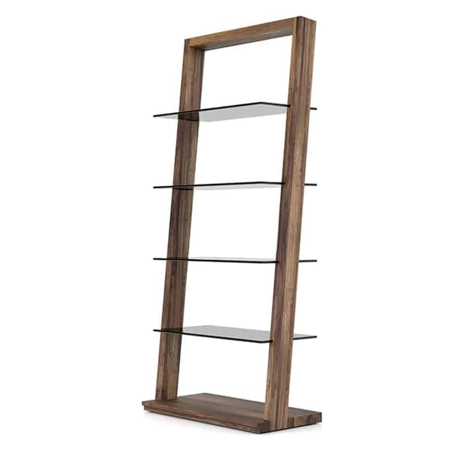 Home Office, Bookcases, Accents, Accent Furniture, birch, contemporary, display, made in canada, mid-century, modern, shelf, shelving, solid wood, walnut, VerBois, living room furniture ideas, custom made, solid wood furniture, Miami Bookcase