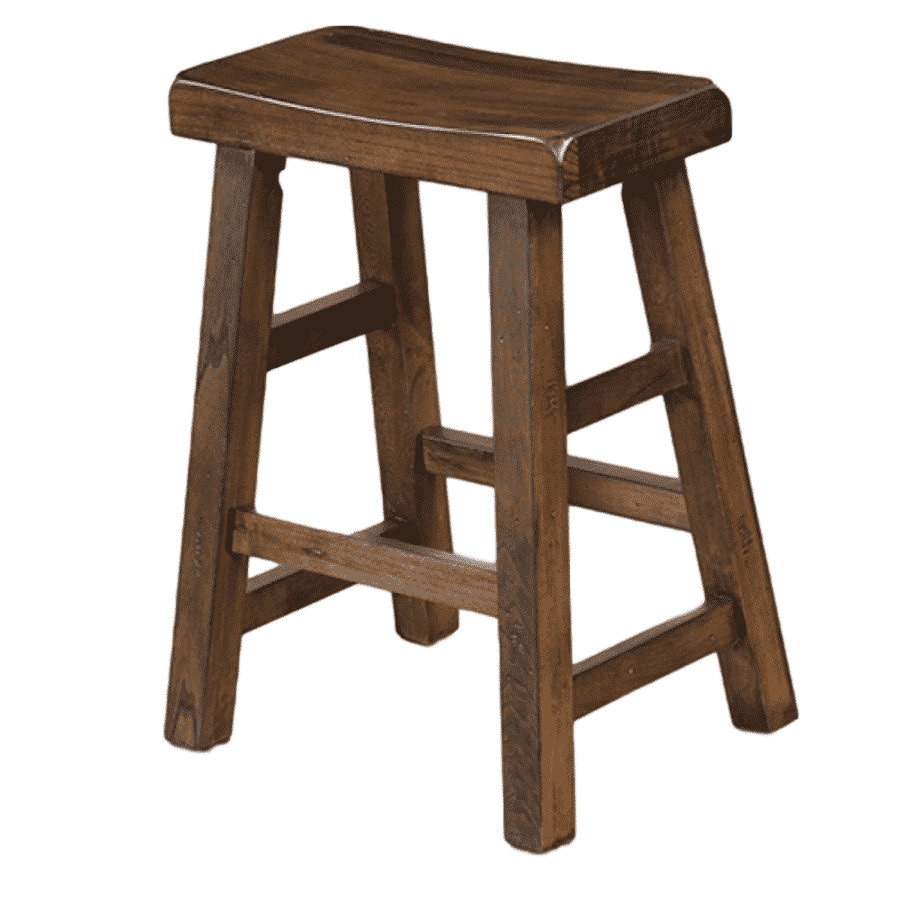 Savannah Saddle Stool, bar, counter, island, pub, rustic, solid wood, urban, modern, backless