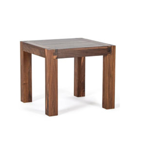 Occasional, End Table, birch, contemporary, glass, made in canada, mid century, modern, rustic walnut, solid wood, walnut, living room ideas, unique, modern, verbois, custom stain, Sim End Table,