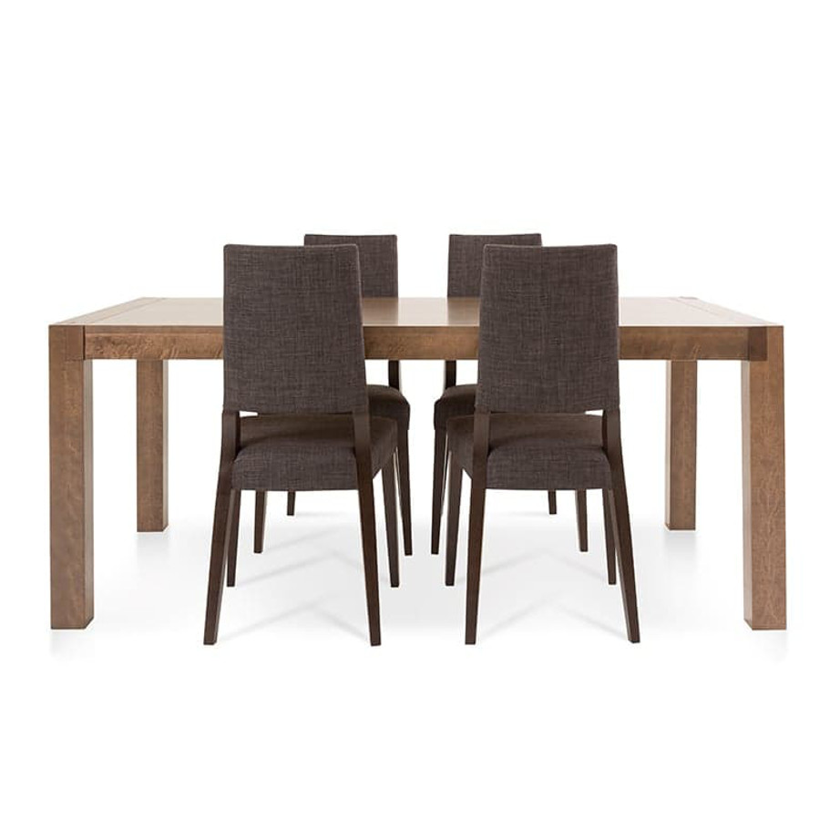 Dining Room, Leg Tables, birch, contemporary, made in canada, mid century, modern, solid wood, verbois, walnut, Modern, unique, mid century, several sizes, dining room ideas, VerBois, simple, raw, Sim Table, large simple legs, simple, several sizes,