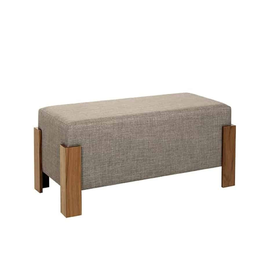 Sun Ottoman Bench, Sun Single Ottoman, Accents, Entry Benches, Accent Furniture, birch, contemporary, fabric, made in canada, modern, seating, solid wood, walnut, VerBois, Fabric, living room furniture ideas, custom made, solid wood furniture,
