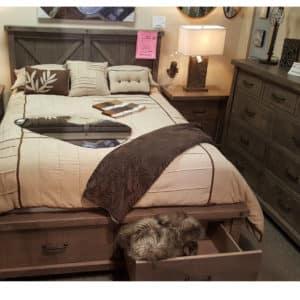 canadian made, solid wood, rustic wood, bedroom suite, bedroom package, on sale, furniture sale, floor model sale