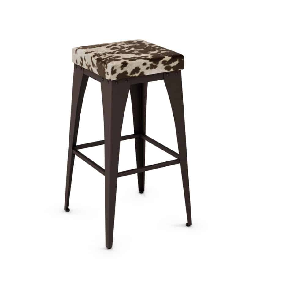 custom stool, metal, iron, steel, fabric, leather, distressed wood, solid birch, traditional, modern, urban, rustic, bar, pub, counter, island, kitchen, amiss, made in canada, upright Stool