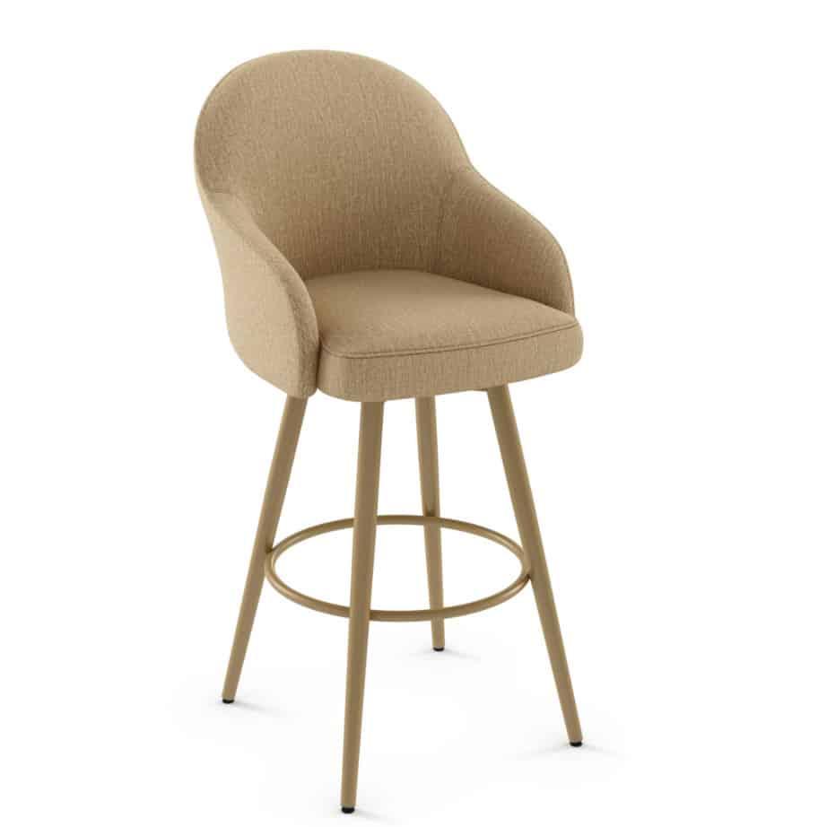 custom stool, metal, iron, steel, fabric, leather, distressed wood, solid birch, traditional, modern, urban, rustic, bar, pub, counter, island, kitchen, amiss, made in canada, weston swivel stool