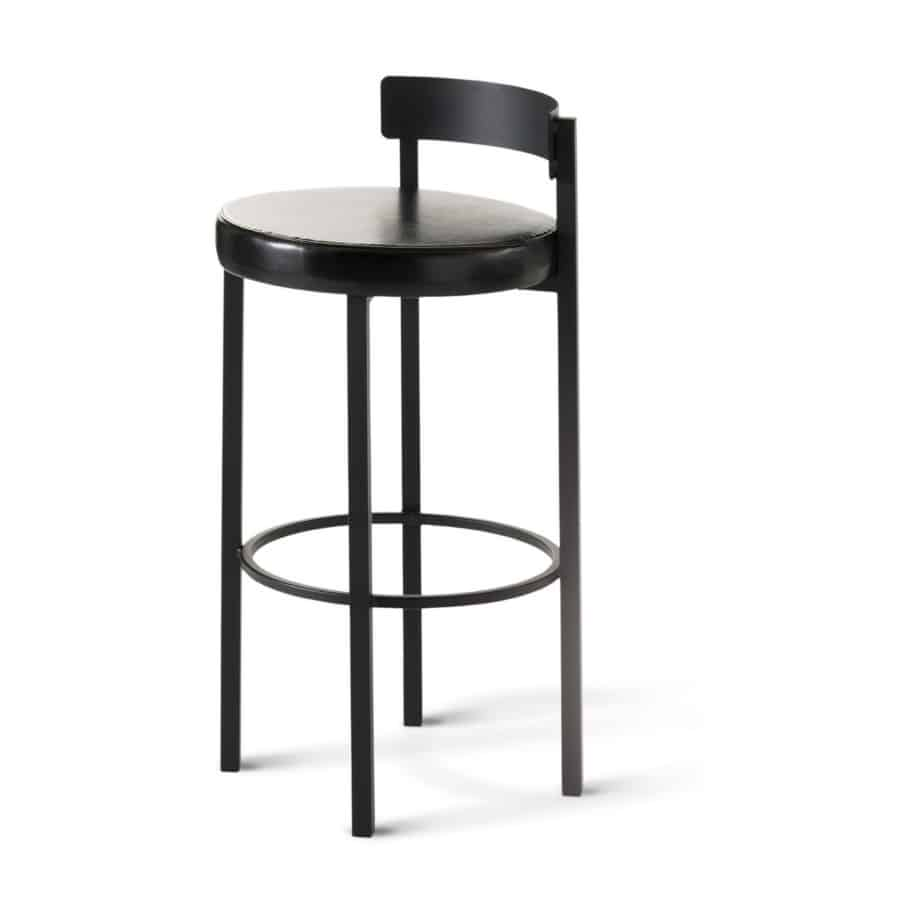 Zoe Stool, pub stool, counter stool, bar stool, counter height, bar height, custom made, custom stool, metal, iron, steel, fabric, leather, distressed wood, solid birch, traditional, modern, urban, rustic, bar, pub, counter, island, kitchen, amisco, made in canada,