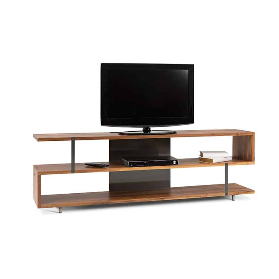 Zoro Tv Console, Entertainment, TV Consoles, birch, console, contemporary, HDTV, made in canada, media stand, mid-century, modern, solid wood, walnut, living room furniture ideas, VerBois, solid wood furniture, custom made,