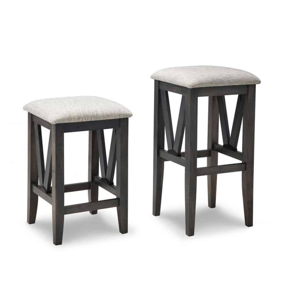 Chattanooga backless stool solid wood made in canada handstone rustic modern