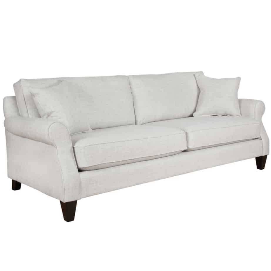 cohen sofa, custom sofa, love seat, contemporary, rolled are, traditional, traditional, made in canada, canadian made, van gogh designs