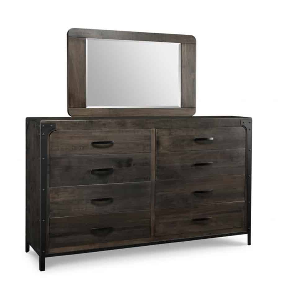 portland dresser, handstone, solid wood, rustic wood, metal accents, modern, urban, contemporary, maple, rustic wood, dovetailed drawers, made in canada, canadian made
