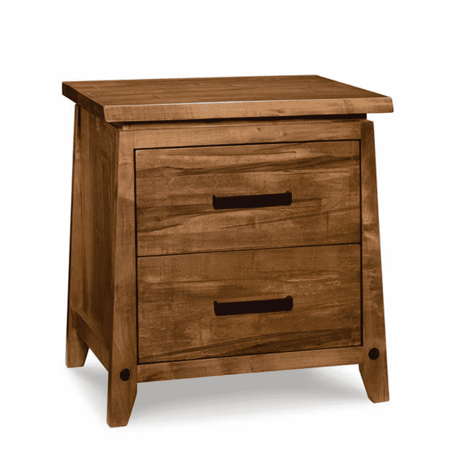 handstone, made in canada, solid wood furniture, rustic furniture, modern furniture, craftsman furniture, live edge furniture, amish style furniture, pemberton bedroom 2, bedroom furniture ideas, bedroom design, bedroom furniture, pemberton 2 dr night stand