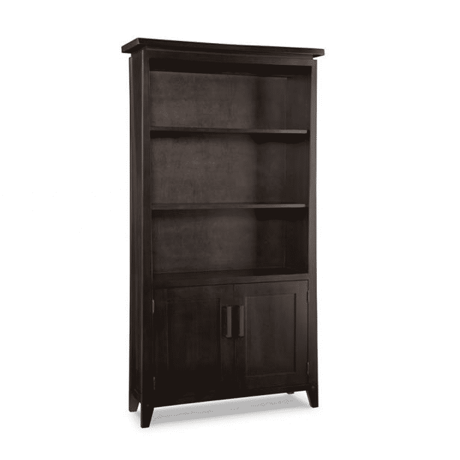 handstone, made in canada, solid wood furniture, rustic furniture, modern furniture, craftsman furniture, live edge furniture, amish style furniture, shelving, office furniture ideas, pemberton bookcase with doors