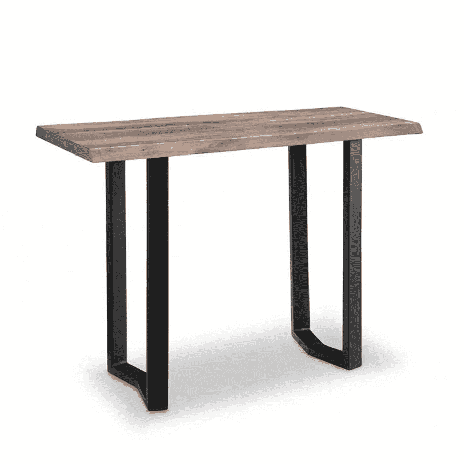 handstone, made in canada, solid wood furniture, rustic furniture, modern furniture, craftsman furniture, live edge furniture, amish style furniture, shelving, office furniture ideas, metal furniture, pemberton live edge console
