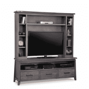 handstone, made in canada, solid wood furniture, rustic furniture, modern furniture, craftsman furniture, live edge furniture, amish style furniture, shelving, office furniture ideas, hdtv console, tv console, custom tv cabinet, custom tv console, pemberton wall unit