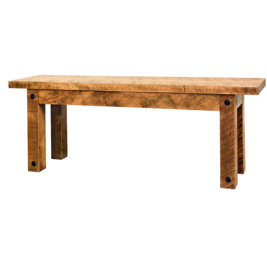 Adirondack Bench, Adirondack, Bench, contemporary, distressed, industrial, made in canada, maple, modern, ruff sawn, rustic, seating, solid wood, table bench, Dining Room, Tables, Trestle Tables, rustic wood kitchen furniture, modern kitchen furniture, kitchen furniture, custom built kitchen furniture