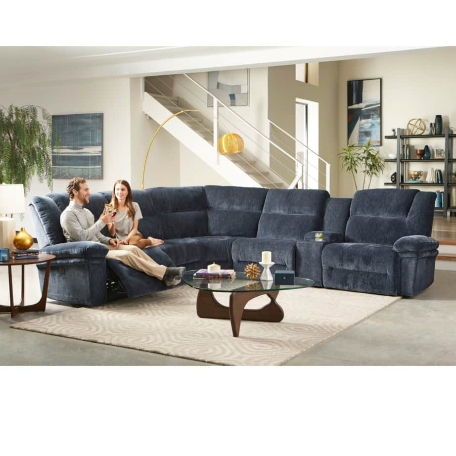 power recliner, power recliner sofa, power recliner sectional, custom sofa, custom recliner, custom sectional, deep seat sofa, best home furnishings, modern, comfortable sofa, parker power recliner sectional