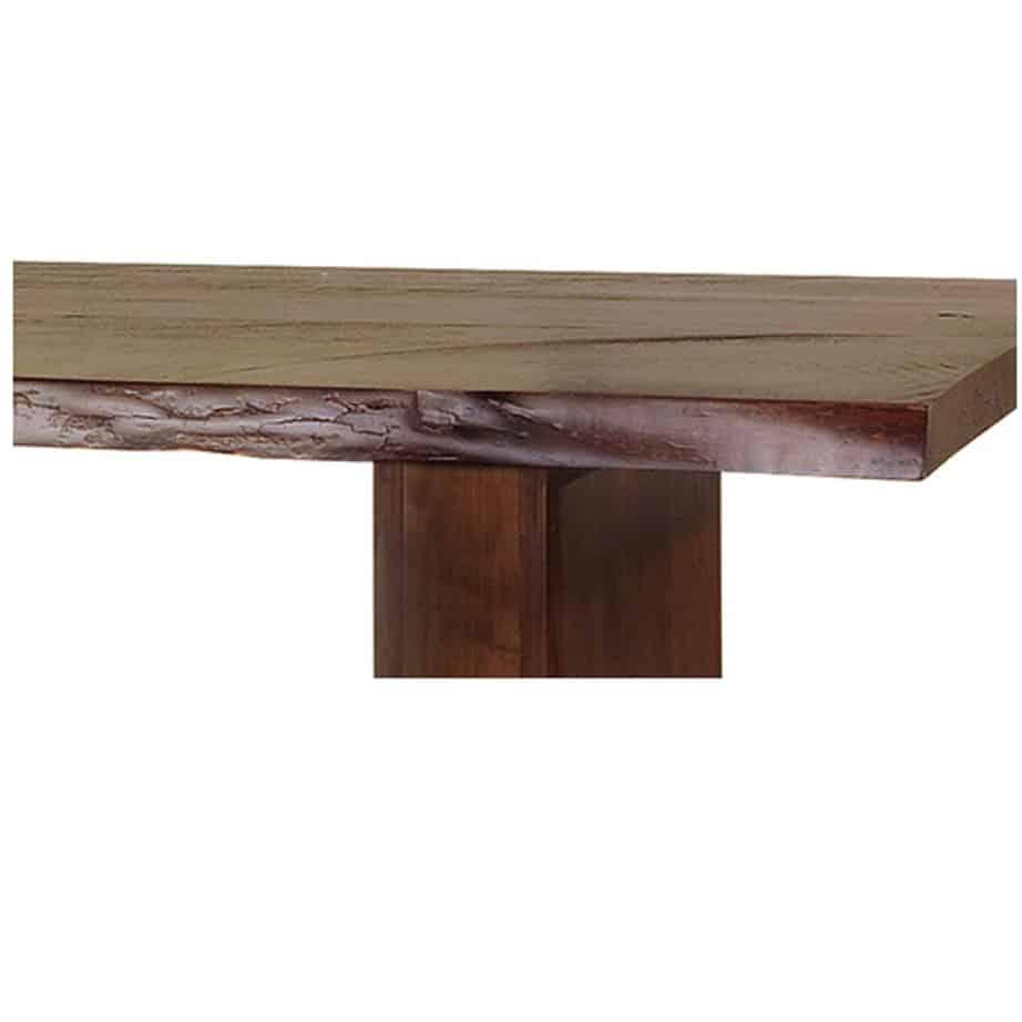 Pillar Live Edge Table, ruff sawn table, solid wood table, live edge table, natural edge table, custom table, canadian made dining table, solid wood dining table,