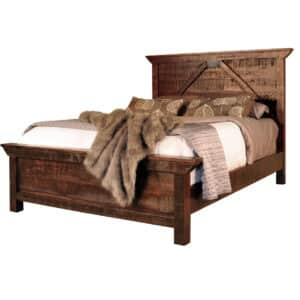 solid wood bedroom furniture, canadian made bedroom furniture, ruff sawn bedroom furniture, rustic bedroom furniture, rustic carlisle bed