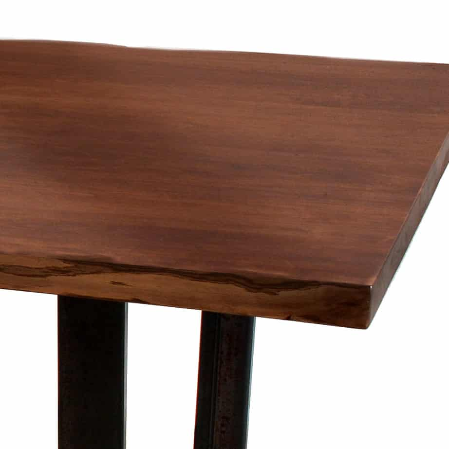 solid wood, bench, rustic wood, table bench, custom bench, Canadian made, made in canada, metal details, urban wood, reclaimed wood, bogart live edge bench