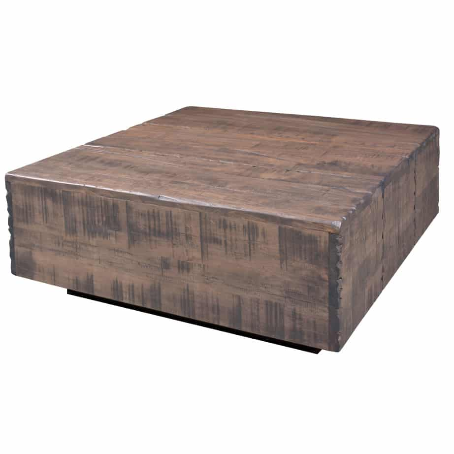 coffee table, solid wood, rustic maple, ruff sawn, modern, urban, contemporary, faux beam coffee table