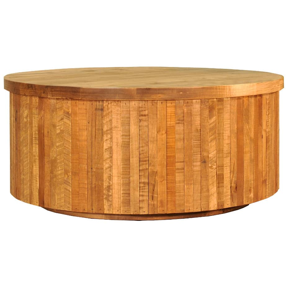 coffee table, solid wood, rustic maple, ruff sawn, modern, urban, contemporary, ledge rock round coffee table